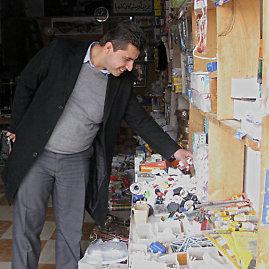 Irakiečio Serbesto (32 m.) elektros prekių parduotuvė