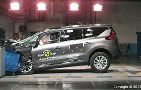 """Naujojo """"Renault Espace"""" saugumas įvertintas penkiomis """"Euro NCAP"""" žvaigždutėmis"""