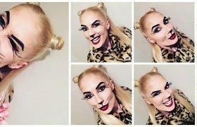 Kristina Ivanova Helovinui pasirinko linksmos leopardės kostiumą