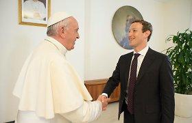Popiežius Pranciškus suteikė audienciją Markui Zuckerbergui