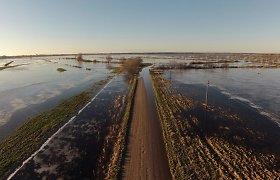 Pamaryje kyla potvynis, apsemtas Šyšos upės polderis