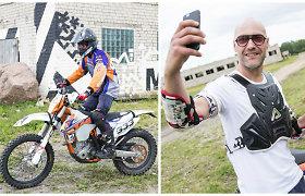 Virtuvės šefas Jonas Jonušas vardines šventė ekstremaliai, ant motociklo: žiūrėkite video