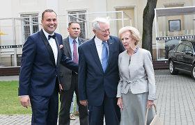Jogailą Morkūną vestuvių proga sveikino ir prezidento Valdo Adamkaus šeima