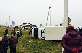 Marijampolėje didelė avarija: susidūrė sunkvežimis ir lengvasis automobilis