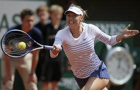 """Marija Šarapova lengvai pateko į trečią """"Roland Garros"""" turnyro ratą"""
