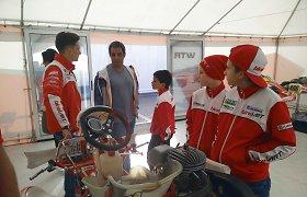 J.P.Montoya vizitas atnešė sėkmę lietuviams Italijoje