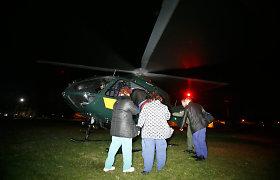 Naktį pasieniečių sraigtasparnis iš Kauno į Vilnių skraidino širdį
