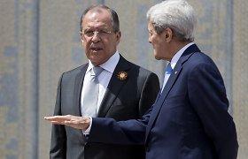 JAV užsienio reikalų sekretorius ir Rusijos užsienio reikalų ministras susitiks Malaizijoje