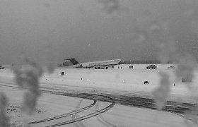 Niujorko oro uoste per pūgą nuo tako nuvažiavo keleivinis lėktuvas ir vos neįkrito į vandenyną