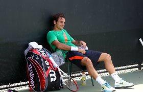 """Kyla abejonių dėl Rogerio Federerio dalyvavimo Majamio """"Masters"""" serijos turnyre"""