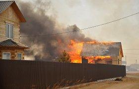 Užbaikalės gubernatorius dėl baisių gaisrų uždraudė prekybą alkoholiu