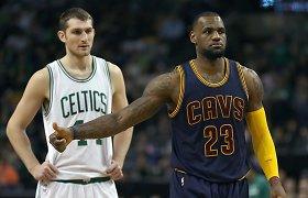 """LeBronas Jamesas po penkerių metų pertraukos išvedė """"Cavaliers"""" į NBA ketvirtfinalį"""