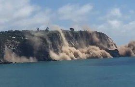 Žemės drebėjimas Naujojoje Zelandijoje: į jūrą nugriuvo skardžio kraštas