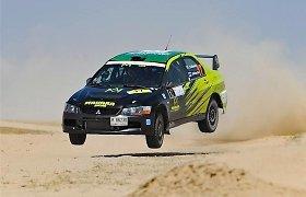 """Saudo Arabijos lenktynininkas sukars 4000 km, kad dalyvautų """"300 lakes rally"""""""