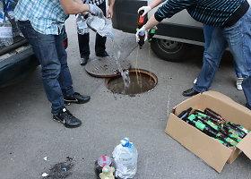 Kaune sunaikinta beveik 5 000 litrų alkoholio gaminių