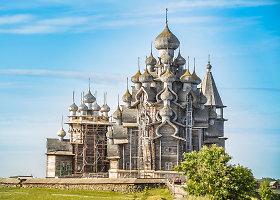 Nepaprasta XVIII amžiaus medinė Rusijos architektūra Karelijoje