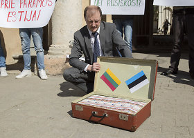 Protestas prie Estijos ambasados