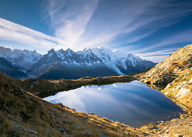 Alpių ežerėliai su nuostabia kalnų panorama