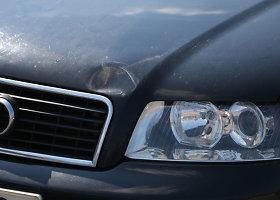 """""""Audi"""" vairuotojas partrenkė pėsčiųjų perėja ėjusią vilnietę"""