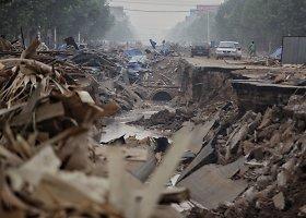 Kinijos šiaurėje dėl liūčių kilo potvynis
