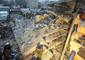 Nairobyje sugriuvo septynių aukštų pastatas: gelbėtojai ieško įstrigusių po griuvėsiais žmonių