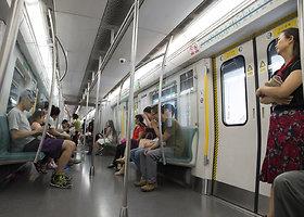 Pekino metro savaitgalį