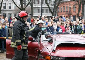 Kauno centre surengta parodomoji gelbėjimo operacija