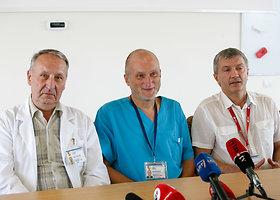Kauno klinikose surengta spaudos konferencija dėl angies įkandimo vaikui