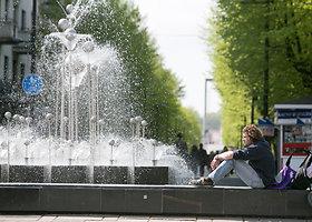 Kauno centre pradėjo veikti fontanai