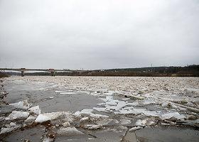 Neryje ties Kaunu susidarė ledų sangrūda
