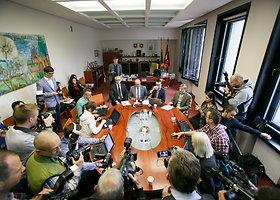 Kauno miesto vadovai aptarė pirmąjį darbų mėnesį