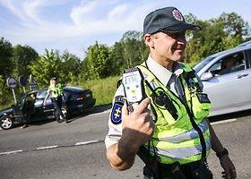 Rytinis kelių policijos reidas Trakuose
