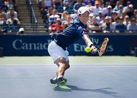 """Kei Nishikoris """"Rogers Cup"""" pusfinalyje patiesė Staną Wawrinką"""