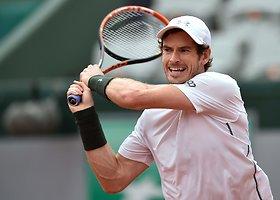 "Ketvirtasis ""Roland Garros"" etapas: Andy Murray – Johnas Isneris"