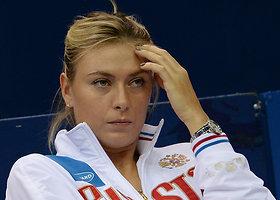 """Gražiausios Rusijos ir Olandijos """"Fed Cup"""" dvikovos akimirkos"""