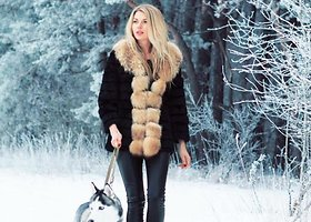 Žiemiškoje fotosesijoje – modelis Solveiga Mykolaitytė