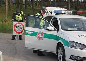 Panevėžio ir Kauno policijos jungtinis reidas prie Truskavos