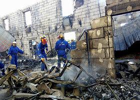Per gaisrą pensionate prie Kijevo žuvo 17 žmonių