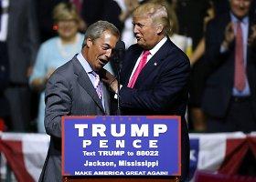 Nigelas Farage'as dalyvavo respublikonų kandidato į JAV prezidentus Donaldo Trumpo kampanijos renginyje Misisipės valstijoje