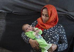 Idomeni pabėgėlių stovykloje gimę kūdikiai