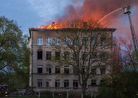 Klaipėdoje atvira liepsna degė buvęs jaunimo laisvalaikio centras