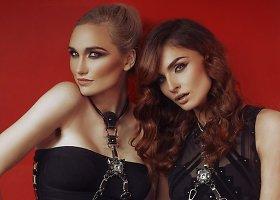 Gintarė Songailė ir Ana Procenko – Valentino dienai skirtų papuošalų fotosesijoje