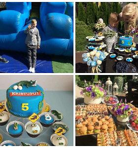 Penktasis Natalijos Bunkės sūnaus gimtadienis: milžiniškas atrakcionas ir margi saldėsiai