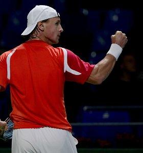 Nuolat keikiantis varžovui Ričardas Berankis iškovojo pergalę ir pateko į ketvirtfinalį
