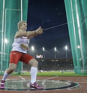 Anita Wlodarczyk pasiekė pasaulio rekordą kūjo metime – pirmą kartą peržengta 80 m riba