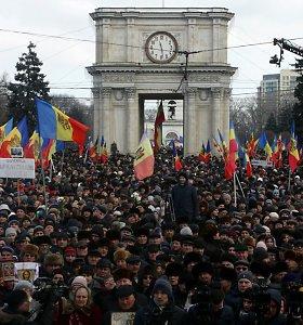 Moldovoje padėtis nerimsta: protestuotojai žada grįžti
