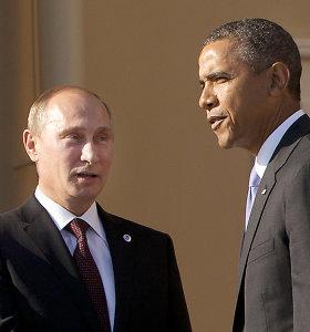 Vladimiras Putinas siunčia žinią Barackui Obamai: JAV ir Rusija gali susitarti