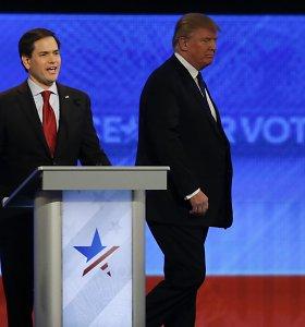 JAV respublikonų debatuose – sumaištis išeinant į sceną