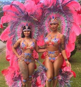 Amber Rose ir Blac Chyna tapo Trinidado karnavalo pažibomis