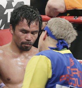 Už nuslėptą traumą Manny Pacquiao gresia ketveri metai nelaisvės
